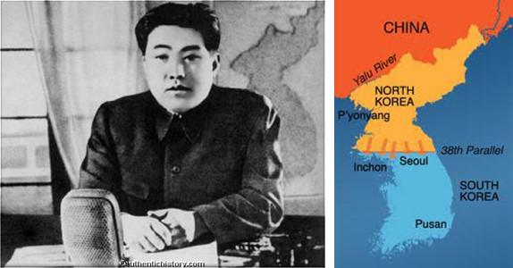 Kim il Sung & Korean Map