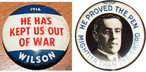 Wilson Campaign Buttons