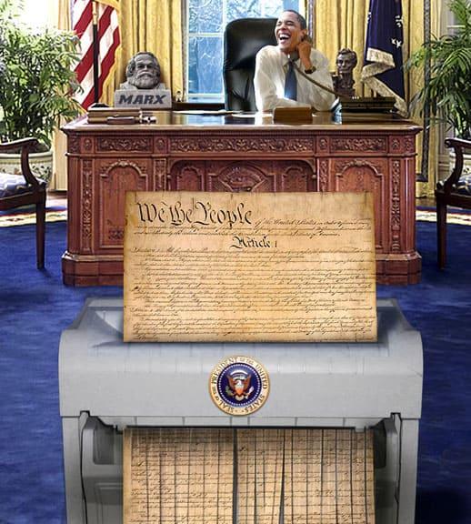 Constitution shredder
